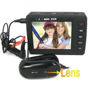 2.5 Inch LCD Screen Micro DVR with 1/3 Inch CMOS Camera